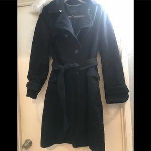 Banana Republic women's black wool coat